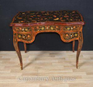 フランスルイ16世の卓上局デ・ダーム・ライティング・テーブル・プラット・インレイ