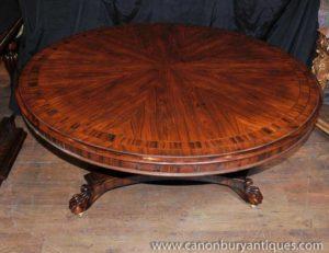 リージェンシーローズウッドセンターダイニングテーブルダイナー家具