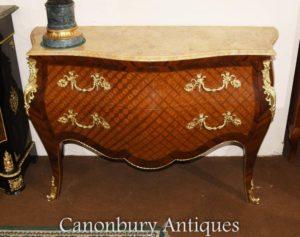 シングルルイ16世の寄木細工インレイ箪笥のボンベの便器