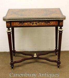 ルイ16世の礼服のインレイチェスゲームテーブルサイドコンソールテーブル