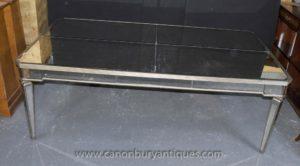 大規模なアールデコのミラーダイニングテーブルミラーテーブルのデスクの家具
