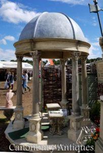 コニカルドーム付き2.4mストーンガーデン寺院ガゼボ