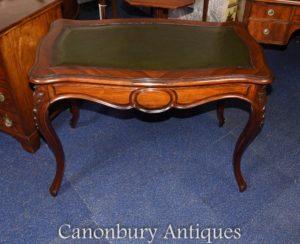 ローズウッドのアンティーク・フランス製テーブル・デスク