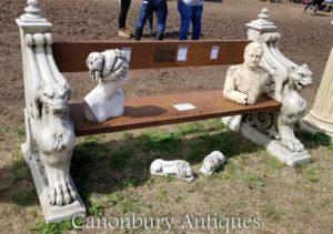 この木製のライオンストーンガーデンシートベントをCANONBURY ANTIQUESで購入するにはこちらをクリックしてください