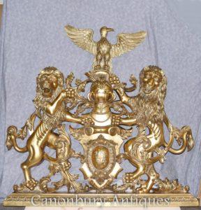 紋章の紋章英語城の手彫り紋章