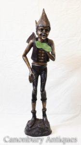 青銅のケルトの象徴像フェアリーキャスティング