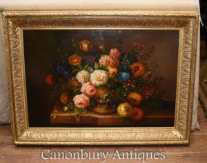 花のスプレー油絵英語ビクトリア朝の花