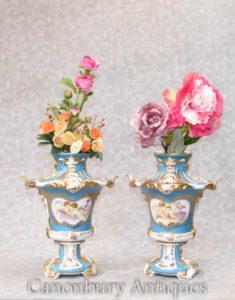 ペア パリ セーヴル ポット ポプリ壺天使の花瓶