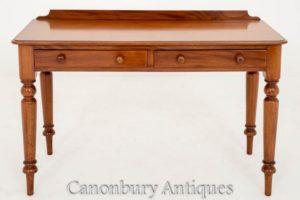 1860年代のマホガニーを描くビクトリア朝の席テーブルデスク