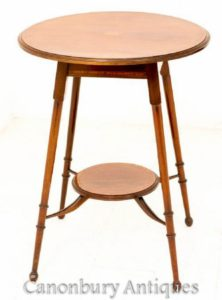 マホガニーのサイドテーブル-アンティークの時折1890年頃