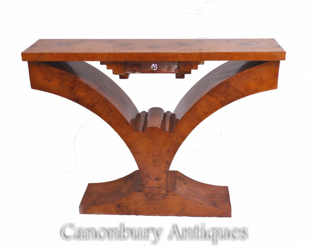 アールデコホールテーブル-ウォールナットコンソール家具