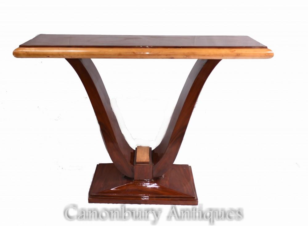アールデコホールテーブル-ローズウッドコンソールテーブル