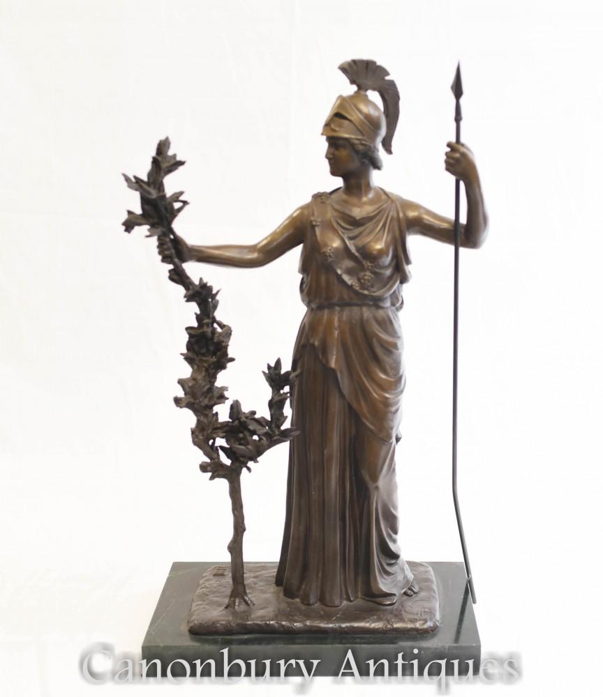 ブロンズ像ブリタニア-ローマの女神ブリタンニア